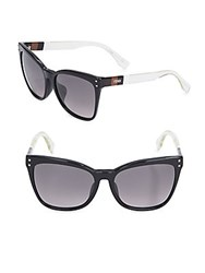 Fendi 49Mm Wide Frame Wayfarer Sunglasses Black