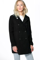 Boohoo Swing Coat Black