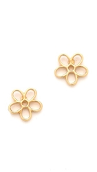 Marc By Marc Jacobs Cutout Daisy Stud Earrings Oro