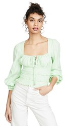 Free People Lolita Top Green