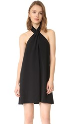 Amanda Uprichard Cross Neck Dress Black