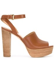 Michael Michael Kors Trina Platform Sandals Brown
