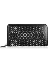 Alaia Arabesque Studded Leather Continental Wallet