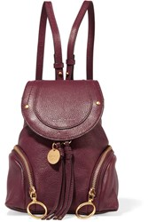 See By Chloe Olga Small Textured Leather Backpack Burgundy