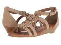 Minnetonka Marina Taupe Suede Women's Sandals
