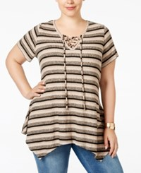 Styleandco. Style Co. Plus Size Striped Handkerchief Hem Top Only At Macy's Rib Marble