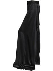 Act N 1 Asymmetric Silk Satin Palazzo Pants