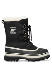 Sorel Caribou Waterproof Nubuck And Rubber Boots Black