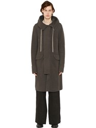 Rick Owens Hooded Zipped Cashmere Parka