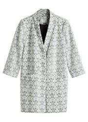 Sandwich Jacquard Coat Grey