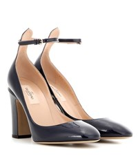 Valentino Tango Patent Leather Pumps Blue