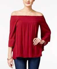 American Rag Off The Shoulder Peasant Top Only At Macy's Biking Red