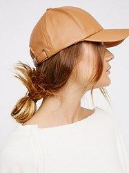 Free People Gramercy Vegan Leather Baseball Hat By