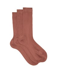 Raey Set Of Three Silk Socks Mid Pink