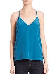 Bcbgmaxazria Lenor Silk Lace Back Tank Blue