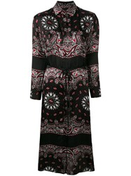 Amiri Paisley Print Shirt Dress Black