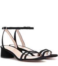 Marc Jacobs Suede Sandals Black