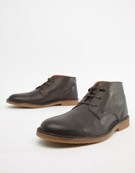 Selected Homme Leather Desert Boot Brown
