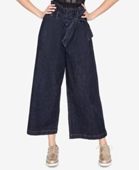 Rachel Roy Wide Leg Paperbag Jeans Created For Macy's Rinse Wash