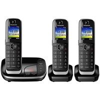 Panasonic Kx Tgj323eb Digital Cordless Phone With Nuisance Call Control And Answering Machine Trio Dect