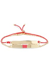Arme De L'amour Set Of Two Lucky Gold Plated And Woven Cotton Bracelets One Size