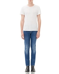 Sandro Pixies Washed Slim Fit Jeans In Vintage Blue