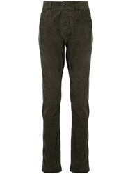 James Perse Slim Fit Corduroy Trousers Green