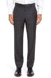 Ted Baker Men's London Jefferson Flat Front Check Wool Trousers Grey