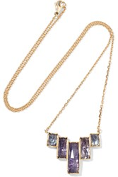 Brooke Gregson Ziggurat 18 Karat Gold Tanzanite Necklace