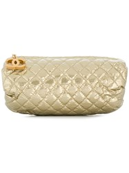 Chanel Vintage Vintage Dpjg0818chapur Gold Leather Nude And Neutrals