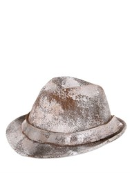 Barbisio Painted Wool Felt Trilby Hat