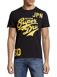 Superdry Stacker Entry Printed Cotton Tee Eclipse Navy