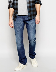Esprit Washed Jeans In Slim Fit Mazeblue