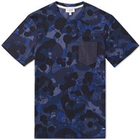 Coach Printed Denim Tee Blue