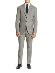 Brunello Cucinelli Checked Lana Wool Suit Grey