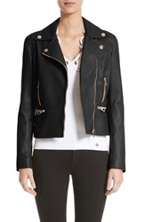 Versace 'S Collection Nappa Leather Jacket Black