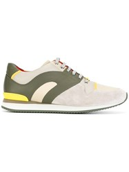 Christian Dior Homme Panelled Sneakers Green