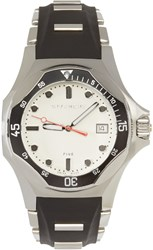 Givenchy Silver And Black Five Shark Watch
