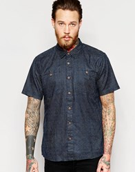 Patagonia Shirt With Dobby Short Sleeves Regular Fit Navy Blue