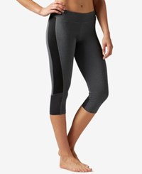 Reebok Workout Ready Colorblocked Capri Leggings Dark Grey Heather