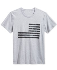 William Rast Men's Graphic Print T Shirt Textured Flag