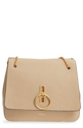 Mulberry Marloes Grained Calfskin Leather Satchel Beige Light Dune