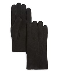 The Men's Store At Bloomingdale's Lambskin Gloves With Fur Lining Black
