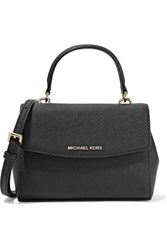 Michael Michael Kors Ava Mini Textured Leather Shoulder Bag Black