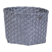 Handed By Dimensional Open Round Basket Small Dark Grey