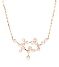 Stone Love Is In The Air 18Kt Rose Gold Necklace With Diamonds Metallic