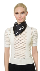 Anya Hindmarch Nocturnal Scarf Black