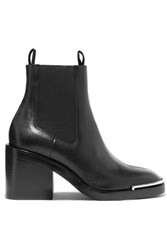 Alexander Wang Hailey Leather Ankle Boots Black