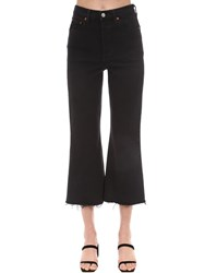 Levi's Rib Cage Cropped Flared Stretch Jeans Black