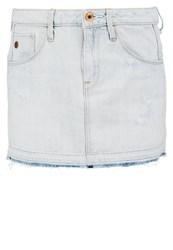 G Star Gstar Arc Ripped Skirt Mini Skirt Scatter Denim Bleached Denim